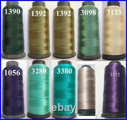 100 Crescent Rayon Viscose Machine Embroidery Thread Spool 2500m / 80g Each UK