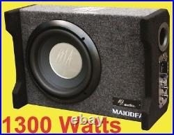 10inch Active ported enclosures subwoofer box 1300w design to fit all car 2020