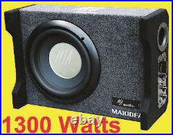 10inch Active ported enclosures subwoofer box 1300w design to fit all car 2021