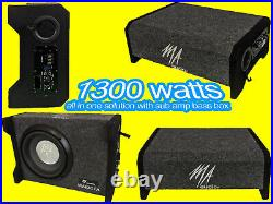 10inch powered ported enclosures subwoofer box 1300w design to fit all car Slim