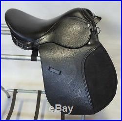 15 School Quality Silver Fox All Purpose English Black Leather Saddle