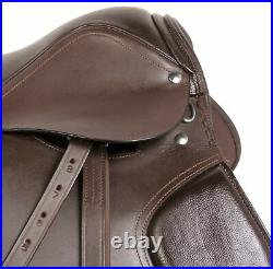 16 17 18 Close Contact Brown Leather English Horse Saddle All Purpose Tack