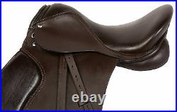16 17 18 in ENGLISH ALL PURPOSE HUNTER JUMPER BROWN HORSE LEATHER SADDLE KIT