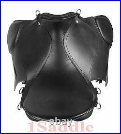 16 17 English Black Saddle Horse All Purpose Bridle Leather Irons Girth
