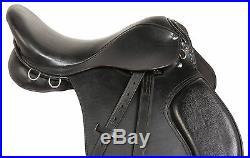 16 English All Purpose Black Leather Horse Hunter Jumper Saddle Tack