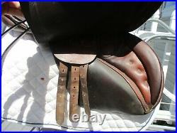 17.5 Johs Stubben Krefeld Imperator A/P English Saddle w new leathers & irons
