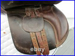 17.5 Medium Collegiate Convertible A/P English Saddle w new leathers & irons