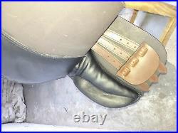 17'' English brown & black saddle jumping all purpose saddle