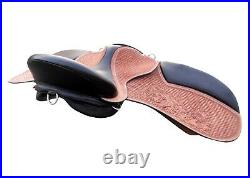17''English saddle toolled handcarft treeless all purpose saddle