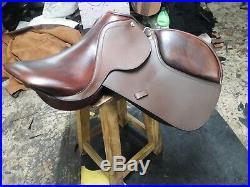 17''english saddle browen leather all purpose close contact saddle