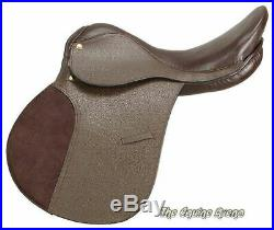 18 Inch All Purpose Draft Horse English Saddle Pkg Hav Brown (Extra Wide) 9 Inch