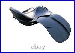 18'' english saddle black leather treeless all purpose saddle