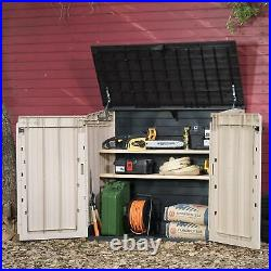 30-Cu-ft All-Weather Store-It-Out Midi Resin Storage Shed in Sturdy Design Beige