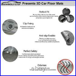 4 Pcs 3d Design All Weather Thermoplast Floor Mat For Hyundai Tucson 2015-2019