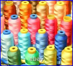 50 X-lg Cone 4000yd Each Spool Poly Machine Embroidery Thread For Brother