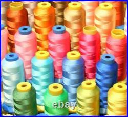50 X-lg Cone Poly Machine Embroidery Thread For Bernina