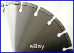 5PK 12 Laser Welded Brick Block Concrete Paver Stone All Purpose Diamond Blade