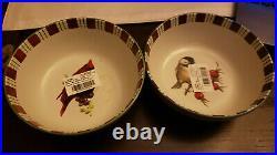 8= Lenox Winter Greetings Everyday Cardinal & Chickadee All Purpose Bowl NEW