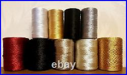 9 Silk Rayon Art Embroidery Machine thread all purpose demanding basic colors