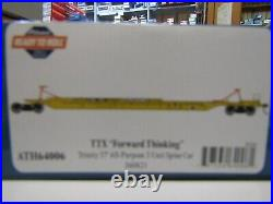 ATHEARN 64006 HO TTX TRINITY 75ft ALL PURPOSE 3 UNIT SPINE CAR SET RD#360821