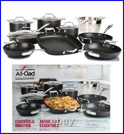 All-Clad MetalCrafters Essentials Nonstick Cookware All-Purpose Set 13-piece