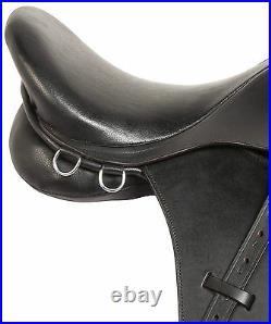 All Purpose 16 17 English Black Hunter Trail Leather Horse Saddle Tack Set