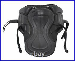 All Purpose Freemax Leather Black Horse Riding Saddle With Complete Accessories