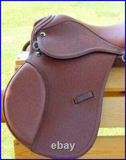 All Purpose Leather English Jumping Brown Color Saddle 15 16 17 18