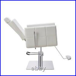 All Purpose Salon Chair Beauty Salon and Spa Reclining Chair TETRIS in White