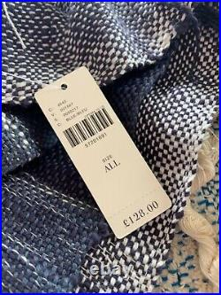 All Roads x Anthropologie Bloomfield Throw Blanket in Blue. Boho design. Brand