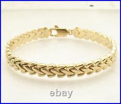All Shiny Basket Weave Design Bracelet Necklace Set 14K Yellow Gold Clad Silver