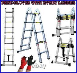 All Sizes Multi-Purpose Aluminium Telescopic Extendable A Frame Bar Ladder Step