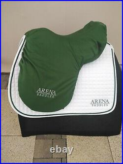 Arena 16.5 wide cob saddle in black leather all purpose g. P changeable gullets
