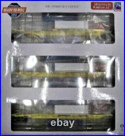 Athearn Ready To Roll 64013 Trinity 57' All-purpose 3 Unit Spine Cars #360881 Ho
