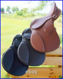 BLACK TAN BROWN All Purpose Youth Kids English EVENT JUMP Leather 15 Saddle NEW