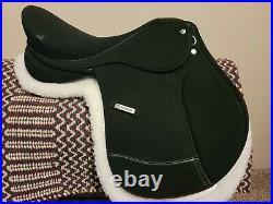 Collegiate Bichton all purpose saddle- 17.5 adjustable tree! Nwot