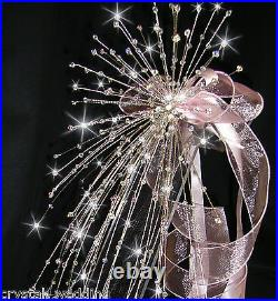 Crystal wire wedding Bouquet Fountain fall design extra full XL -all colours