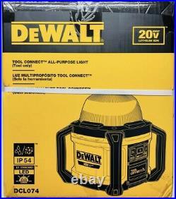 DEWALT DCL074 20V 5000 Lumens Max All-Purpose Light BRAND NEW! FREE SHIPPING
