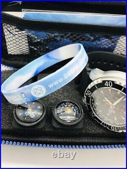 Deep Blue Ap Chronograph All Purpose Dive Watch- Black Dial