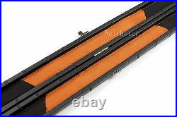 Deluxe Patch Design One 1 Piece Slimline Thin Snooker Pool Cue Hard Case 2 Color