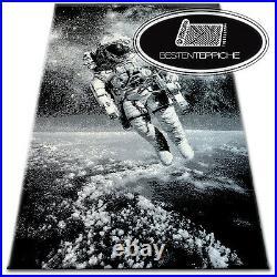 Designer Modern Teppich FLASH Raumfahrer Astronaut Weltall Carpet Designteppich