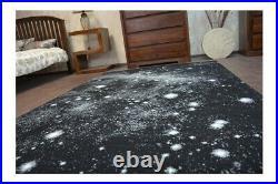 Designer Modern Teppich FLASH schwarz Weltall Planeten Carpet Designteppich