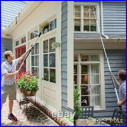 DocaPole 6-24 Foot (2m 7m) Extension Pole + Squeegee & Window Washer Combo