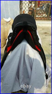 Endurance seat saddle 16on cow softy color Black and red combination