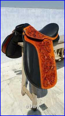 English dressage leather saddle 17 with bridle, taxed and accessories