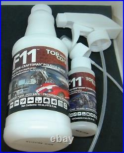 F11 TOPCOAT 16oz & 2oz SPRAY BOTTLES & MICROFIBER TOWEL SUPER CAR SAVER WAX $$