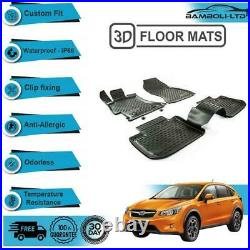 Fit Subaru XV Tailored All Weather Thermo Floor Mat 4 Pcs 3d Design 2012-2019