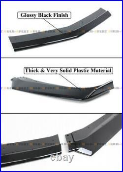 For 16-21 Camaro SS /19-21 LS LT RS Glossy Blk Front Bumper Lip Splitter Spoiler