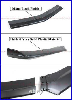 For 16-21 Camaro SS / 19-21 LS LT RS Matte Blk Front Bumper Lip Splitter Spoiler