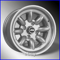 Ford 13x7 ET0 Silver all over Alloy Wheels x 4 / Minilight Design (New)